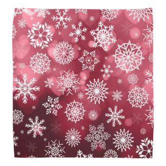 Schneeflocken auf einem Valentinsgruß-Hintergrund  Kopftuch