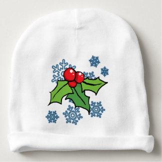 Schneeflocken Babymütze