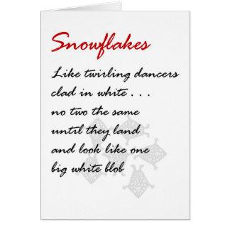 Schneeflocken - ein lustiges Weihnachtsgedicht Grußkarte
