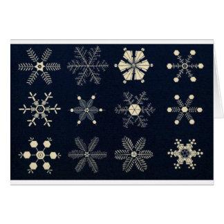 Schneeflocken Feiertag und Weihnachtskarte Karte