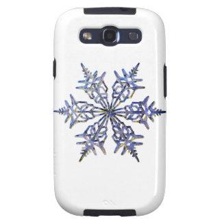 Schneeflocken, gestickter Blick Samsung Galaxy S3 Hüllen