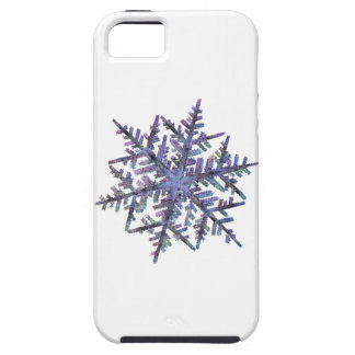 Schneeflocken, gestickter Blick iPhone 5 Schutzhülle