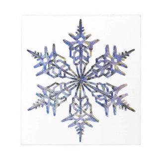 Schneeflocken, gestickter Blick Notiz Block