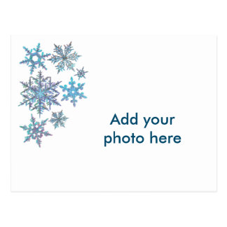 Schneeflocken, gestickter Blick Postkarten