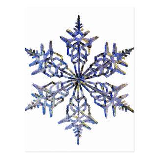 Schneeflocken, gestickter Blick Postkarte