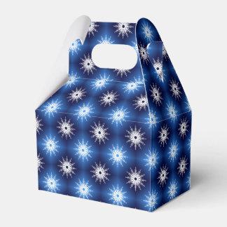 Schneeflocken kopieren Blau Geschenkschachtel