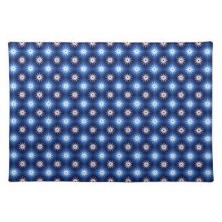 Schneeflocken kopieren Blau Tischset