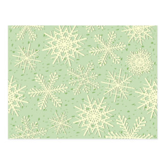 Schneeflocken, Postkarte
