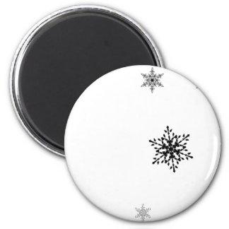 Schneeflocken Runder Magnet 5,7 Cm