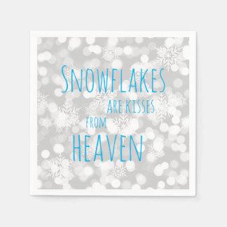 Schneeflocken sind Küsse vom Himmel Papierserviette