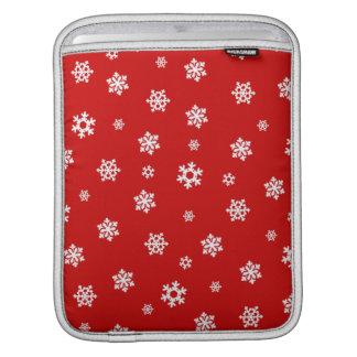 Schneeflocken (weiß) sleeve für iPads