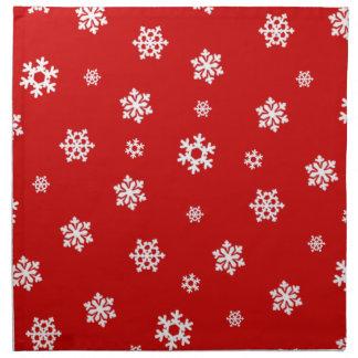 Schneeflocken (weiß) stoffserviette