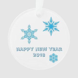 Schneeflockeverzierung - Wünsche des guten Rutsch Ornament