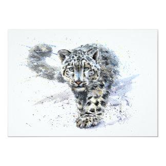 Schneeleopard 12,7 X 17,8 Cm Einladungskarte