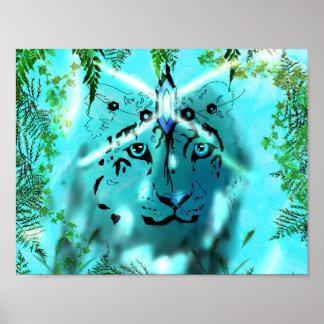 Schneeleopard Geistplakat Poster