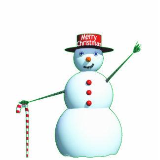 Schneemann der frohen Weihnacht-3D Freistehende Fotoskulptur