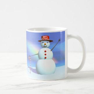 Schneemann der frohen Weihnacht-3D Kaffeetasse