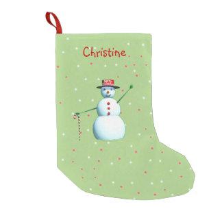 Schneemann der frohen Weihnacht-3D Kleiner Weihnachtsstrumpf