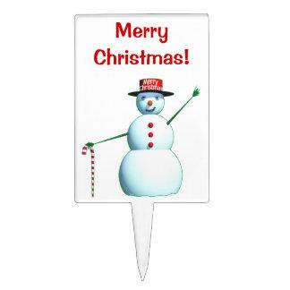 Schneemann der frohen Weihnacht-3D Torten Aufsatz