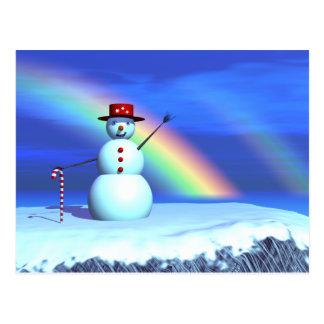 Schneemann des Weihnachten3d Postkarte