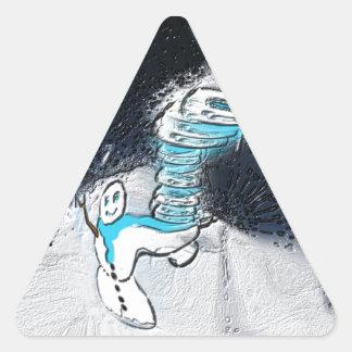 Schneemann Dreieckiger Aufkleber