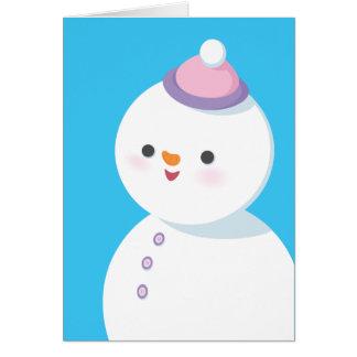Schneemann-Feiertags-Karte Grußkarte