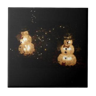 Schneemann-Feiertags-Licht-Anzeige Keramikfliese