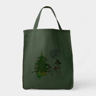 Schneemann-Feiertags-Tasche