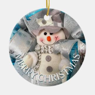 Schneemann-frohe Weihnacht-Verzierung Keramik Ornament