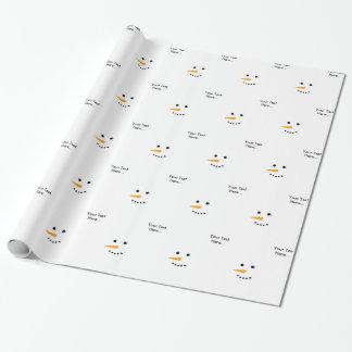 Schneemann-Gesicht Geschenkpapier