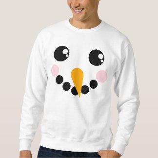 Schneemann-Gesicht Sweatshirt