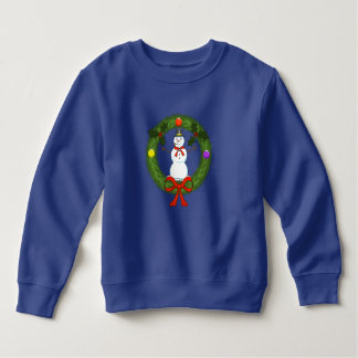 Schneemann im Kranz-Kleinkind-Sweatshirt Sweatshirt
