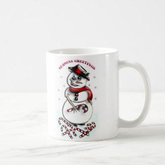 Schneemann Kaffeetasse