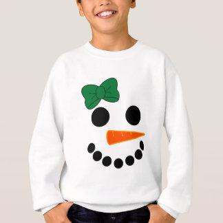 Schneemann-Mädchen Sweatshirt