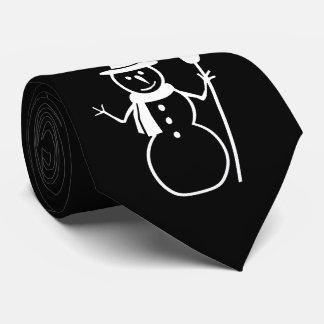 Schneemann mit Schneeflocke-Weihnachten Krawatte