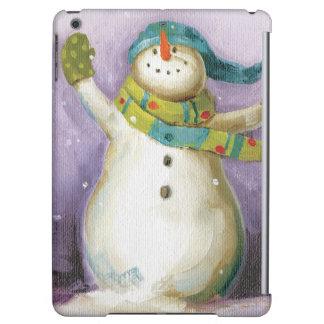 Schneemann mit Winter-Handschuhen