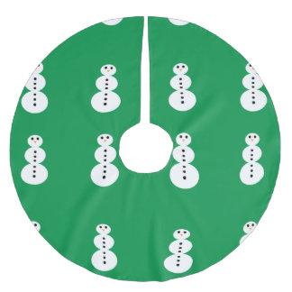 Schneemann-Muster Polyester Weihnachtsbaumdecke