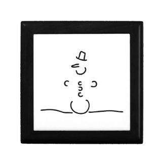 Schneemann Schnee Karotte Zylinder Schmuckschachtel