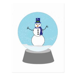 Schneemann-Schnekugel Weihnachtsgeschenke Postkarte