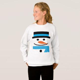 Schneemann-Sweatshirt mit Zylinder und Schal Sweatshirt