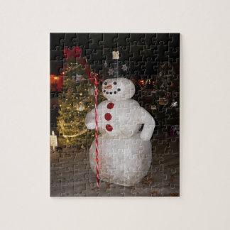 Schneemann-u. Weihnachtsbaum-Puzzle Puzzle