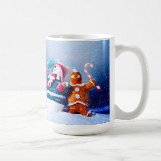 Schneemann-und Lebkuchen-Mann Kaffeetasse