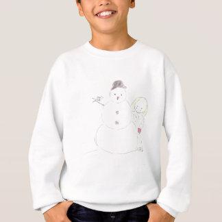 Schneemann und Mädchen Sweatshirt