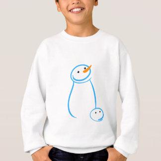 Schneemann-und Steve-Skizze Sweatshirt
