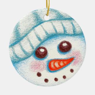 Schneemann-Weihnachtsbaum-Verzierungs-Geschenk Keramik Ornament