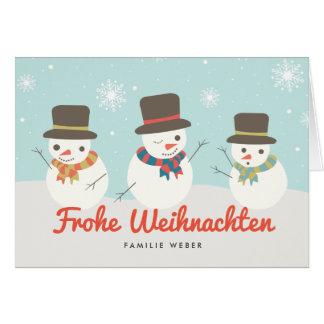 Schneemann Weihnachtskarte Grußkarte
