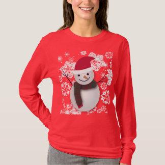 Schneemann-Weihnachtspullover-Art-Entwurf T-Shirt