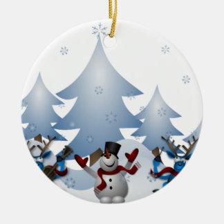 Schneemann-Weihnachtsverzierung Keramik Ornament