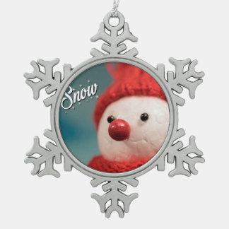 Schneemann-Winterurlaub-Weihnachtsverzierung Schneeflocken Zinn-Ornament