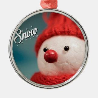 Schneemann-Winterurlaub-Weihnachtsverzierung Silbernes Ornament